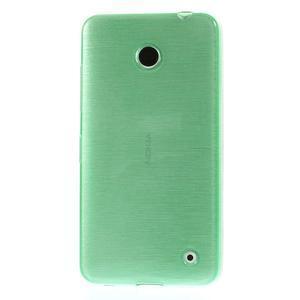 Gélové Kartáčové puzdro na Nokia Lumia 630- zelenomodré - 2