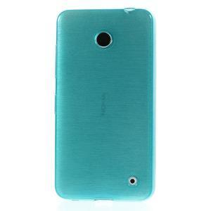 Gélové Kartáčové puzdro na Nokia Lumia 630- modré - 2
