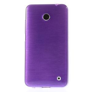 Gélové Kartáčové puzdro na Nokia Lumia 630- fialové - 2