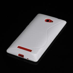 Gélové S-line puzdro pre HTC Windows phone 8X- biele - 2