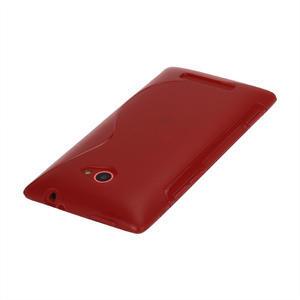 Gélové S-line puzdro pre HTC Windows phone 8X- červené - 2