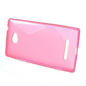 Gélové S-line puzdro pre HTC Windows phone 8X- ružové - 2