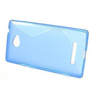 Gélové S-line puzdro pre HTC Windows phone 8X- modré - 2
