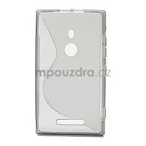 Gélové S-liné puzdro pre Nokia Lumia 925- šedé - 2