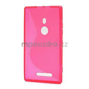 Gélové S-liné puzdro pre Nokia Lumia 925- ružové - 2