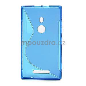 Gélové S-liné puzdro pre Nokia Lumia 925- modré - 2
