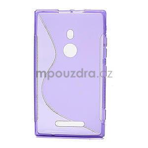 Gélové S-liné puzdro pre Nokia Lumia 925- fialové - 2
