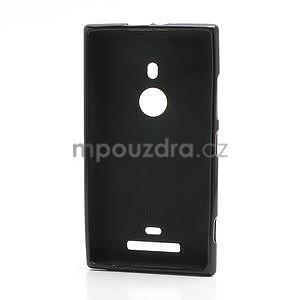 Gélové matné puzdro pre Nokia Lumia 925- čierné - 2