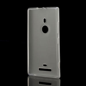 Gélové matné puzdro pre Nokia Lumia 925- biele - 2