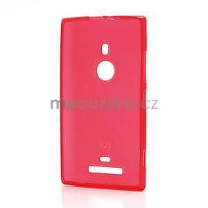 Gélové matné puzdro pre Nokia Lumia 925- červené - 2