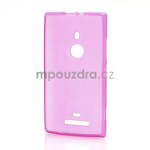Gélové matné puzdro pre Nokia Lumia 925- ružové - 2