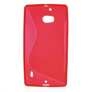 Gélové S-line puzdro na Nokia Lumia 930- červené - 2