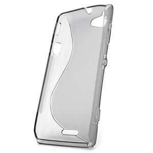 Gélové S-line puzdro na Sony Xperia L C2105- šedé - 2