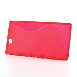 Gélové S-line puzdro pre Sony Xperia Z ultra- červené - 2