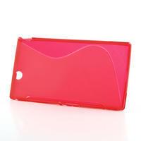 Gélové S-line puzdro pre Sony Xperia Z ultra- červené - 2/4