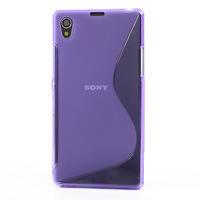 Gelové S-line pouzdro na Sony Xperia Z1 C6903 L39- fialové - 2/5