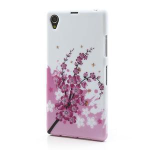 Gélové puzdro pre Sony Xperia Z1 C6903 L39- kvitnúce vetvička - 2