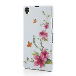 Gelové pouzdro na Sony Xperia Z1 C6903 L39- květy a motýl - 2
