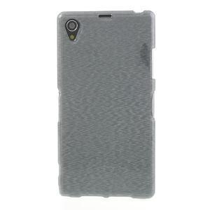 Kartáčované puzdro pre Sony Xperia Z1 C6903 L39- sivé - 2