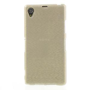 Kartáčované puzdro pre Sony Xperia Z1 C6903 L39- zlaté - 2