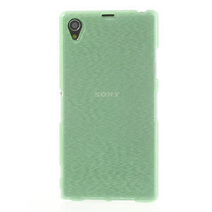 Kartáčované puzdro pre Sony Xperia Z1 C6903 L39- zelenomodré - 2
