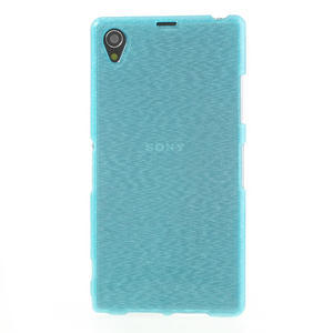 Kartáčované puzdro pre Sony Xperia Z1 C6903 L39- modré - 2