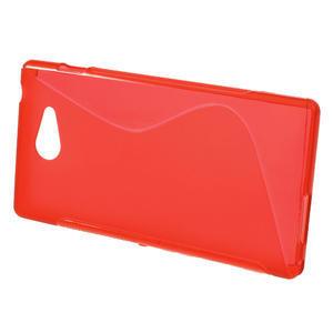 Gélové S-line puzdro na Sony Xperia M2 D2302- červené - 2