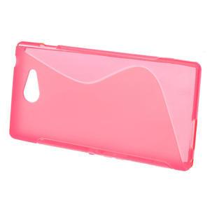 Gélové S-line puzdro na Sony Xperia M2 D2302- růžové - 2