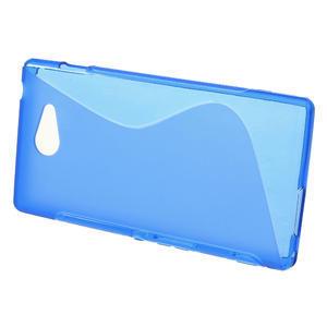 Gélové S-line puzdro na Sony Xperia M2 D2302- modré - 2