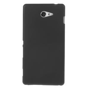 Gélové tenké puzdro na Sony Xperia M2 D2302 - čierné - 2