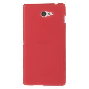 Gélové tenké puzdro pre Sony Xperia M2 D2302 - červené - 2