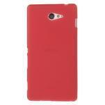 Gélové tenké puzdro pre Sony Xperia M2 D2302 - červené - 2/5