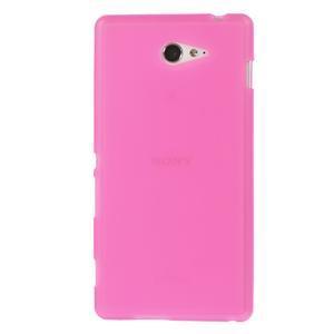 Gélové tenké puzdro pre Sony Xperia M2 D2302 - ružové - 2