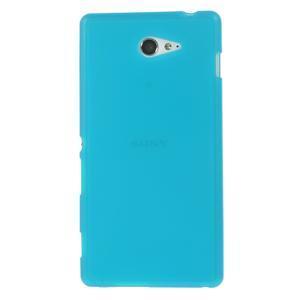 Gélové tenké puzdro na Sony Xperia M2 D2302 - svetlo modré - 2