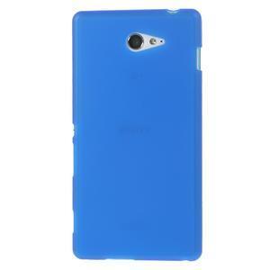 Gélové tenké puzdro na Sony Xperia M2 D2302 - modré - 2