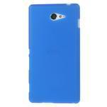 Gélové tenké puzdro na Sony Xperia M2 D2302 - modré - 2/5