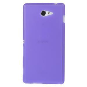 Gélové tenké puzdro na Sony Xperia M2 D2302 - fialové - 2