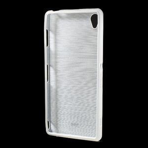 Gelové kartáčové pouzdro na Sony Xperia Z3 D6603 - bílé - 2