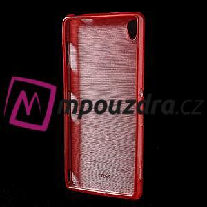 Gélové kartáčové puzdro pre Sony Xperia Z3 D6603 - červené - 2
