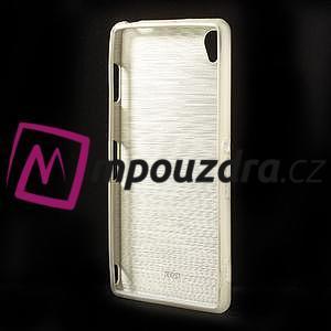 Gelové kartáčové pouzdro na Sony Xperia Z3 D6603 - zlatavé - 2