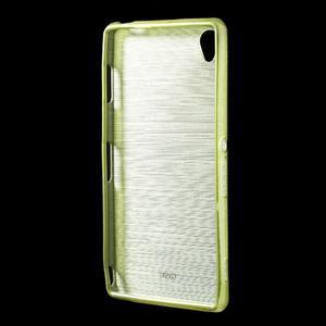 Gelové kartáčové pouzdro na Sony Xperia Z3 D6603 - zelené - 2