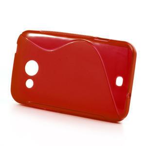 Gélové S-line puzdro pre HTC Desire 200- červené - 2