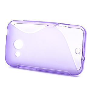 Gélové S-line puzdro pre HTC Desire 200- fialové - 2