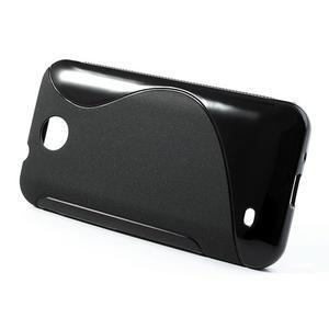 Gélové S-line puzdro pre HTC Desire 300 Zara mini- čierné - 2