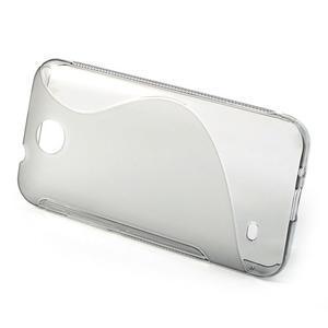 Gélové S-line puzdro pre HTC Desire 300 Zara mini- šedé - 2