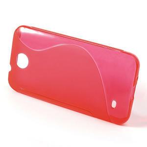 Gélové S-line puzdro pre HTC Desire 300 Zara mini- červené - 2