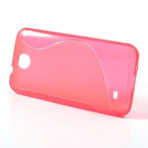 Gélové S-line puzdro pre HTC Desire 300 Zara mini- ružové - 2