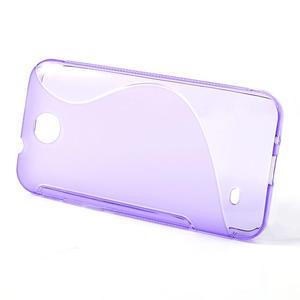 Gélové S-line puzdro pre HTC Desire 300 Zara mini- fialové - 2