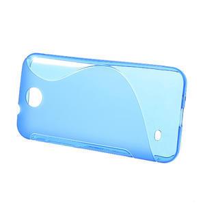 Gélové S-line puzdro pre HTC Desire 300 Zara mini-modré - 2