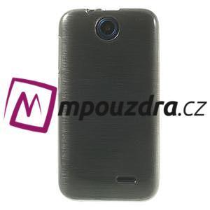 Gélové kartáčované puzdro na HTC Desire 310- šedé - 2